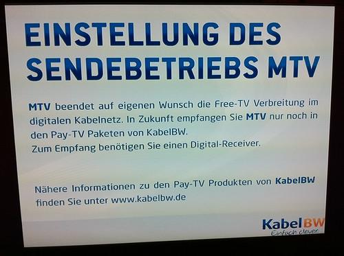 Klassisches Eigentor, MTV!