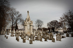 (cw3283) Tags: winter snow cold philadelphia cemetery grave graveyard weather philly phila laurelhillcemetery