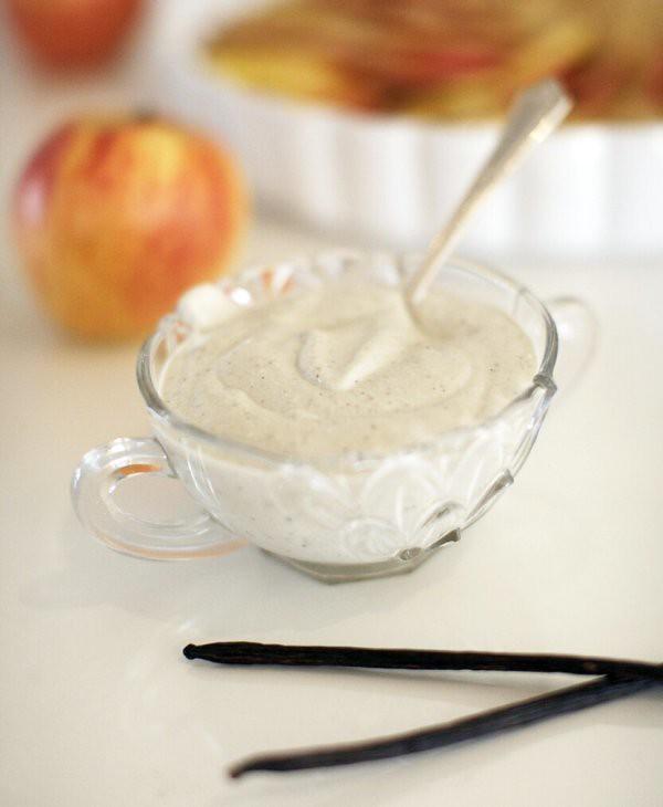 Äpple paj med cashewgrädde