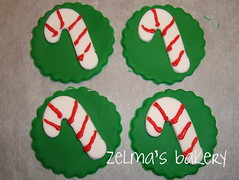 Cupcake Toppers - Candy Cane