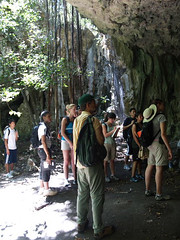 Entering Ritidian Cave
