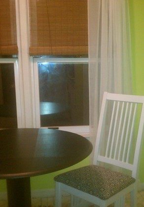 breakfast nook table and chair