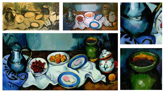 Today is Paul Cezanne's 172nd bday. To inform our homepage homage, we made a real oil painting first