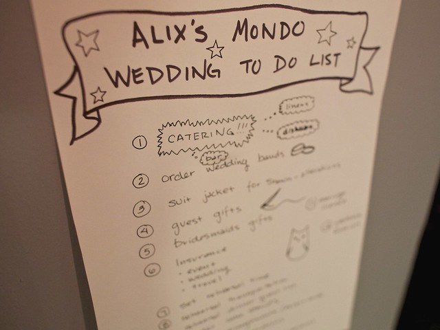 alix's mondo wedding to do list