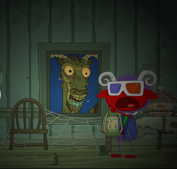 Jersey Devil in Window on Poptropica