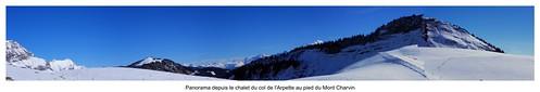 Panorama depuis le col de l'Arpettaz