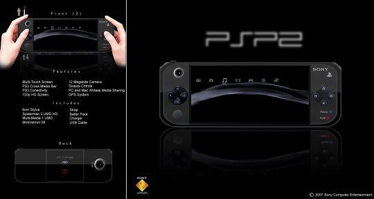 Những mẫu thiết kế Sony PSP2 ấn tượng