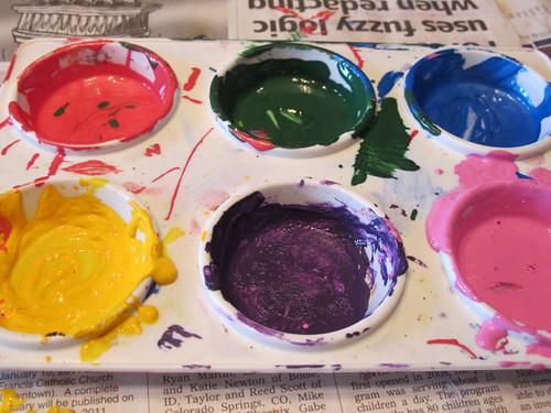 Sponge Painting Palette