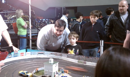the boys, slot racing