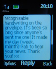 SMS text acknowledgement