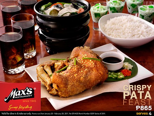 Max's Crispy Pata Feast Meal