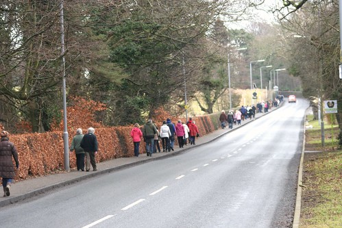 Charity Walkers at Alloway