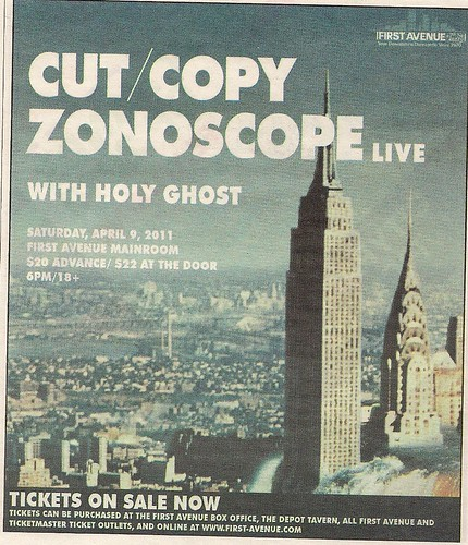 04/09/11 Cut/Copy-Zonoscope @ Minneapolis, MN (ad)