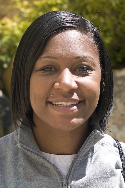SFSU women's basketball player Dominique Hunter