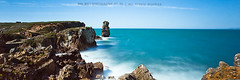 Blue water (Bitking / Maurcio Reis) Tags: ocean blue portugal water rock mar agua day bright smooth panoramic oceano markii peniche rochas longexposition longaexposicao canon1740mm leefilter canon5dmkii bigstopper