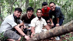 Awesome Team! Filming Flying Snake .#wildlifedocumentary