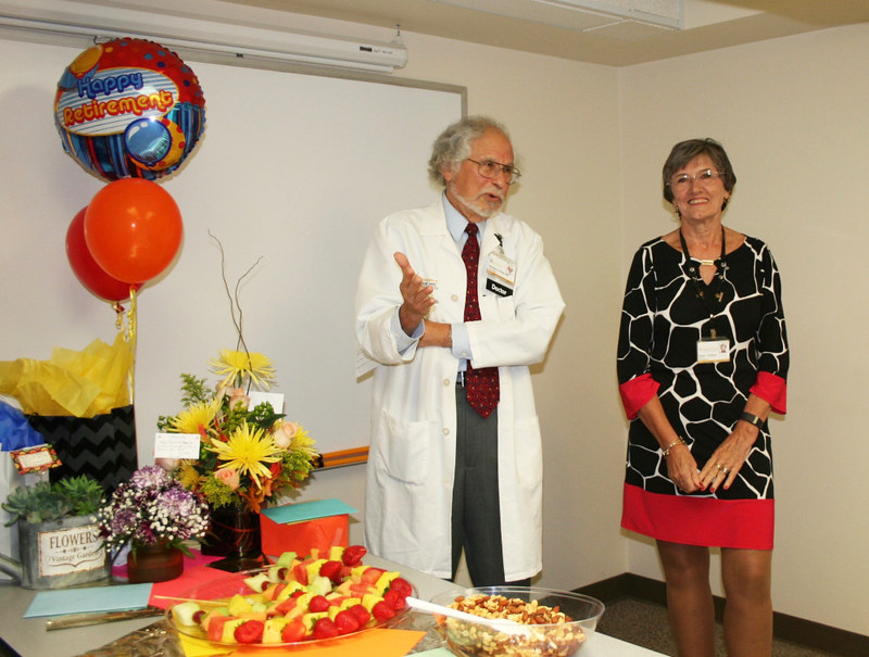 Retirement party for Diane Phillips, Cardiovascular Medicine for 45 years