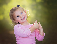 :: sweet :: (mjcollins photography) Tags: little young girl toddler blonde pink outdoors light smile happy blue eyes
