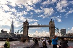 London from the other side (n.karpiewska) Tags: london londyn wielka brytania tower bridge river rzeka tamiza cloud clouds sun city center trip trawel boat pentax kx landscape panorama