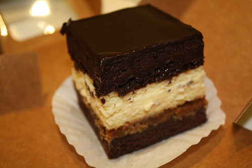 triple decker chocolate cheesecake parvati