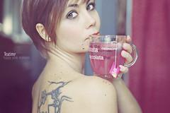 Tea|time #02 (mickiky) Tags: pink woman selfportrait me cup girl tattoo myself donna back break afternoon rosa autoritratto te remotecontrol teatime autoscatto ragazza schiena tazza th pomeriggio