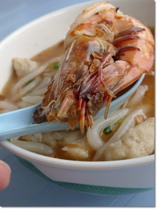 Large Prawn in Seafood Noodles