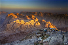 A new dawn (katepedley) Tags: morning light mountain mountains colour rock sunrise canon dawn golden ancient tripod egypt mount holy moses sacred granite bible 5d geology peninsula musa 1740mm sinai bedouin pilgrims jabal rift polariser gndfilter gebel batholith   gabal