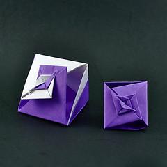 Gift Box - Kawasaki (rebecccaravelry) Tags: origami box modular kawasaki toshikazukawasaki