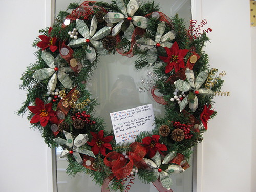 Dollar wreath