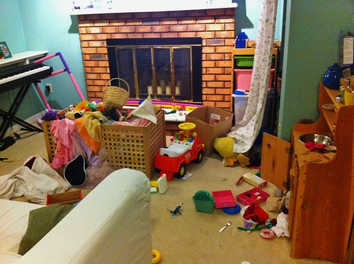 The reality of our playroom
