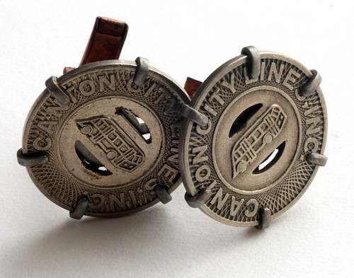 Canton City Lines Token Cufflinks II