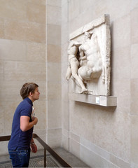 Parthenon Metope XXVII with Viewer