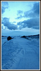 Road to oblivion (gunnarganzer) Tags: winter sky snow clouds twilight sony 3556 a350 sony1870