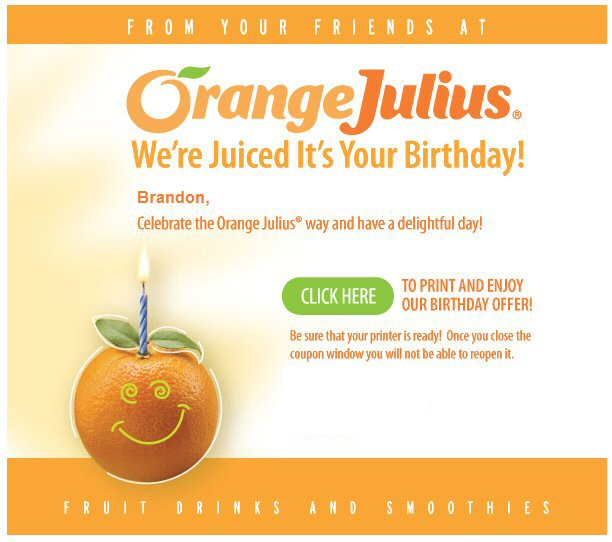 Orange Julius Coupon