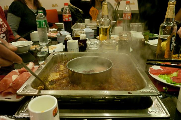broth of the sichuan hot pot chengdu china