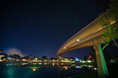 the monorail stretch (EddyMixx) Tags: longexposure night epcot tokina monorail waltdisneyworld 1116mm