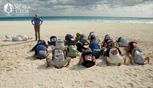 Cancun Heads in the Sand Event