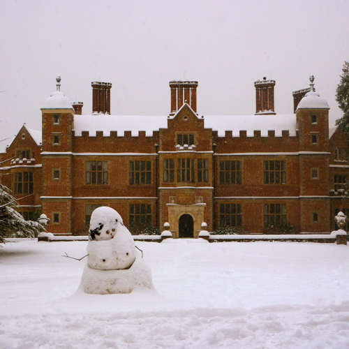 Chilham in the snow ~ village castle snowman