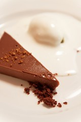 20101204-09-Chocolate tart at Catch Restaurant in Hobart (Roger T Wong) Tags: food dinner canon dessert restaurant chocolate australia tasmania hobart tart f28 1755 canonefs1755mmf28isusm canoneos50d catchrestaurant