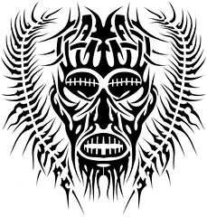 MASCARA (Black Crown . tribal) Tags: white black art branco tattoo illustration dark design arte tribal preto e mascara tatoo ilustrao desenho escuro
