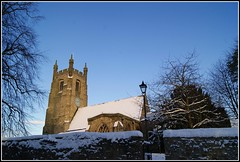Snow on St Edmund's Church. (cadvan3) Tags: old morning autumn trees winter snow cold ice church lamp wall sony holy tall a330 sedgefield stedmunds cadvan3 davidedson yahoo:yourpictures=winter yahoo:yourpictures=christmas yahoo:yourpictures=winterv2 yahoo:yourpictures=snow2013