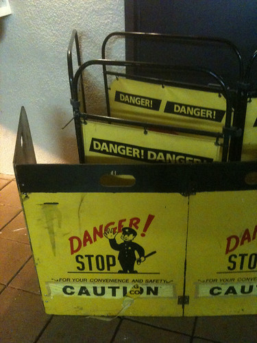 Danger elevator barrier