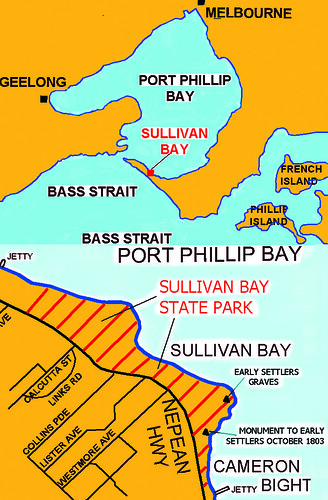 Map of Sullivan Bay