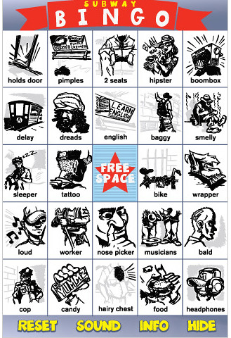 Subway bingo iphone app