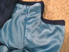 Lining Hand-Stitched to Sleeve at Armscye (sewyerown) Tags: dress purple dresses 5661 challis akris bubblesleeve mccalls5661 mccall5661 woolchallis m5661