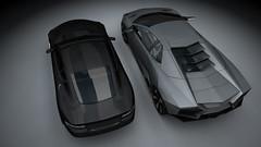 Lamborghini V.S. Aston Martin (Moody Man) Tags: render 101208