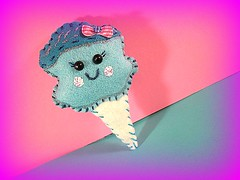 cotton candy plush Pin (RusticRainbow) Tags: cute handmade felt lolita harajuku kawaii