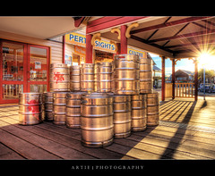 Forget a Jug of Beer... Let's Go for a Keg Instead! ;P :: HDR (Artie | Photography :: I'm a lazy boy :)) Tags: shadow beer metal photoshop canon restaurant shine riverside tripod australia wideangle can perth keg ef 1740mm westernaustralia hdr artie cs3 3xp f4l photomatix tonemapping tonemap 5dmarkii 5dm2
