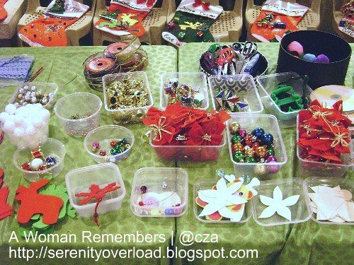 arts and craft materials, christmas stockings, shangrila plaza mall events