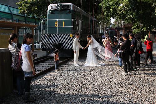 Crowds at at Hong Kong Railway Museum